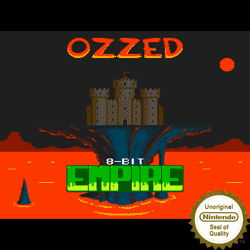Cover image for the Bitpop and Nintendo 8-bit tune album 8-bit Empire by the chiptune artist Ozzed