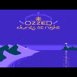 Cover image for the lo-fi and electro album Dunes at Night by the 8-bit artist Ozzed
