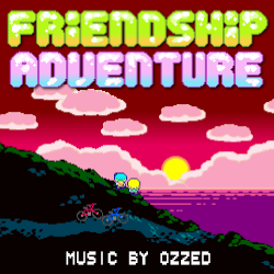 Cover image for the lo-fi and electro album Friendship Adventure by the 8-bit artist Ozzed