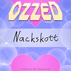 Cover image for the lo-fi and electro album Nackskott by the chiptune artist Ozzed
