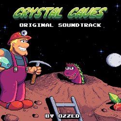 Cover image for the chiptune albun Crystal Caves HD by the 8-bit artist Ozzed